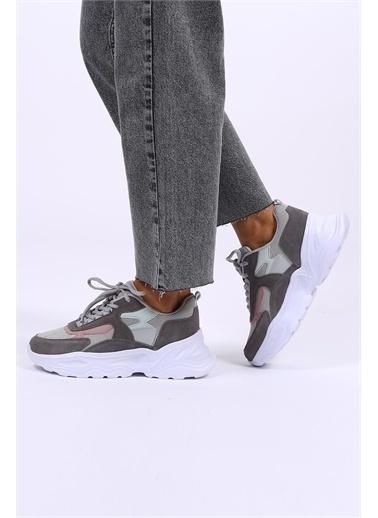 Female Project Antrasit Hakiki Deri Sneaker Antrasit